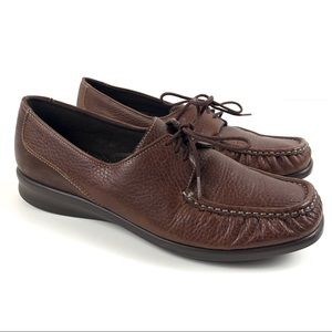 Sas Leather Lace Up Loafer Comfort Moccasin Shoes